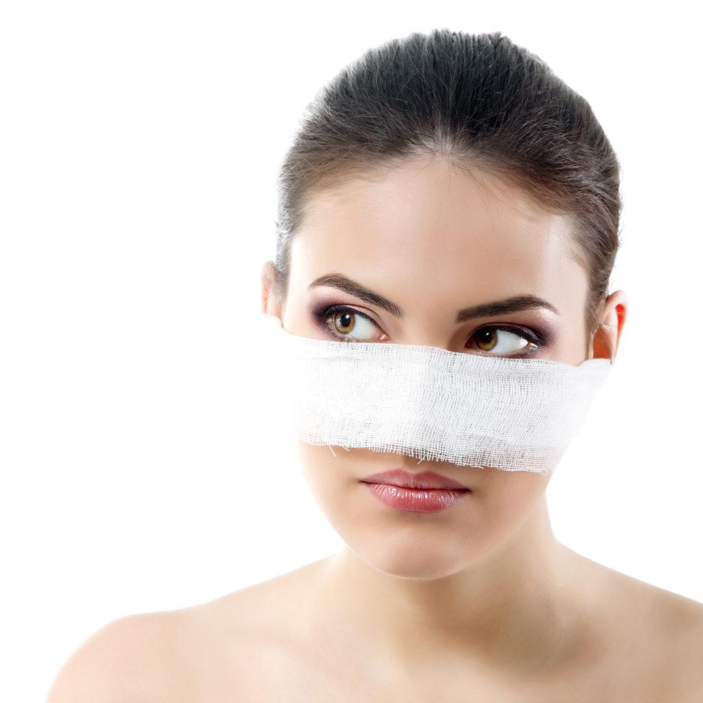 Opatrunek po operacji nosa