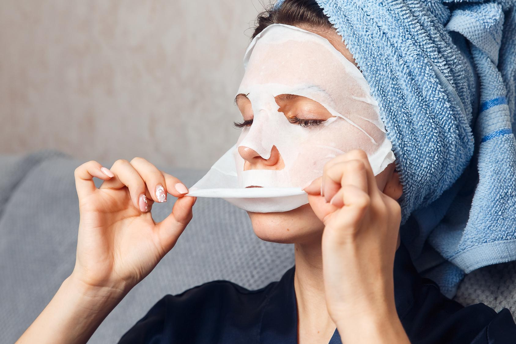 płat maski kolagenowej